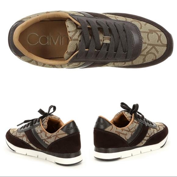 Authentic Calvin Klein Women'S Tea Logo Sneakers Nwt Calvin Klein Womens Tennis Shoes